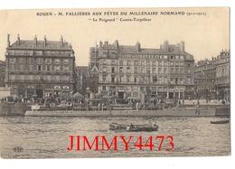 """CPA - """" Le Poignard """" Contre-Torpilleur - Mr. FALLIERES AUX FÊTES DU MILLENAIRE NORMAND 1911 - ROUEN 76 S-M - E L D - Rouen"""
