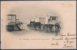 Ostende , Cabines De Bain Sur Roues Tirées Par Chevaux , Animée - Oostende