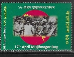 BANGALDESH,  2019, MNH, MUJIBNAGAR DAY, CELEBRATIONS, INDEPENDENCE STRUGGLE, MILITARY,1v - Other