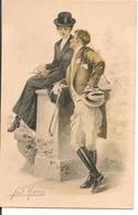 L60A303 - Couple - Dessin De Couple Romantique  - Fan Marco N°2054 - Carte Italienne - Couples