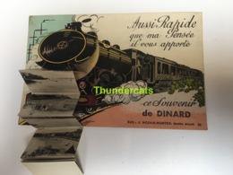 CPA 35 CARTE A SYSTEME CE SOUVENIR DE DINARD TRAIN - Dinard