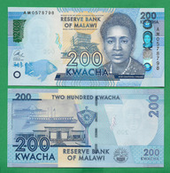 MALAWI - 200 KWACHA - 2016 - UNC - Malawi