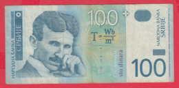 B1097 / 2004 - 100 Dinara , Nikola Tesla ,  Banknotes Banknoten Billets Banconote , Serbia Serbien Serbie Servie - Serbia