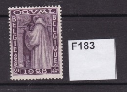Belgium 1928 Orval Abbey Restoration Fund 2F (MM) - Neufs