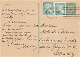 Ganzsache Von Magdeburg 1925 In Die Schweiz - Deutschland