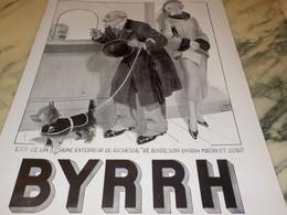 ANCIENNE PUBLICITE EXTERIEUR DE RICHESSE ET BYRRH  1935 - Alcools