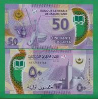 MAURITANIA - 50 OUGUIYA – 2017 –UNC – POLYMER - Mauritania