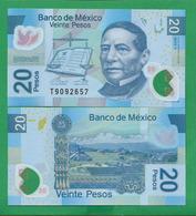 MEXICO - 20 PESOS - 2016 – POLYMER - UNC - Mexico