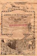 87 -ST-SAINT GERMAIN LES BELLES-CERTIFICAT BONNE CONDUITE SOLDAT BAPTISTE ROGER-COLONEL MICHEL 13 E CORPS ARMEE-LIMOGES - Documenti Storici