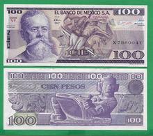 MEXICO - 100 PESOS - 1982 – UNC - Mexico