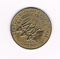 //  EQUATORIAL  AFRICAN STATES  CAMEROUN  10 FRANCS  1969 - Centrafricaine (République)
