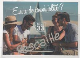33 GIRONDE - CP ENVIE DE CONVIVIALITE? DITES 33 - DEGUSTATION D'HUITRES DANS LES CABANES OSTREICOLES BASSIN D'ARCACHON - Arcachon