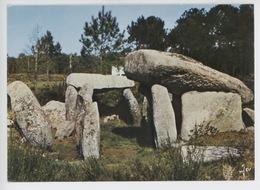Carnac : Dolmen De Keriaval Sur La Route De Plouharnel (cp Vierge N°3586 Jos) - Dolmen & Menhire