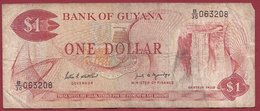 Guyana 1 Dollar 1989 (Sign 7) Dans L 'état (5) - Guyana