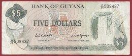 Guyana 5 Dollars 1989 (Sign 7) Dans L 'état (6) - Guyana
