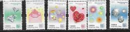HONG KONG, 2019, MNH, HEART WARMING STAMPS, DIAMONDS, ROSES,DECORATIONS,6v - Other
