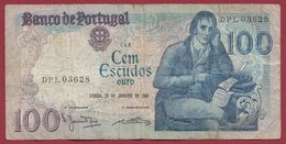 Portugal 100 Escudos Du 31/01/1984  Dans L 'état (12) - Portugal
