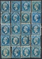 Lot De 20 Fois Le N° 22 Oblitérations Ambulants - 1862 Napoleon III