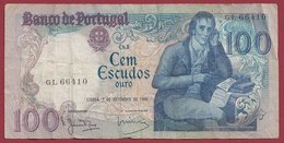 Portugal 100 Escudos Du 02/09/1980  Dans L 'état (14) - Portugal