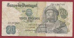 Portugal 20 Escudos Du 27/07/1971  Dans L 'état (16) - Portugal