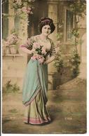 L60A322 -  Bonne Année - Jolie Jeune Femme, Belle Robe - HT N°2139 - Nouvel An