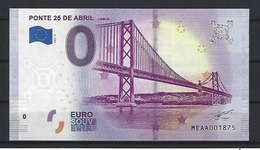 PORTUGAL - EURO SOUVENIR €0 - April 25th Bridge - Lisbon - Portugal