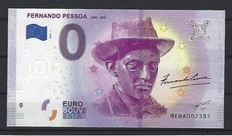 """PORTUGAL - EURO SOUVENIR €0 - Writer """"Fernando Pessoa"""" (1883-1935) - Portugal"""