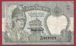 Népal 2 Ruppe 1981 (Sign 12)  Dans L 'état (25) - Nepal