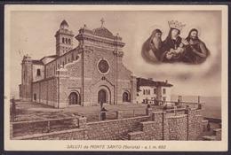Monte Santo - Sveta Gora, Mailed, Stamp Removed - Gorizia