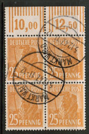 GERMANY  Scott # 566 VF USED IMPRINT BLOCK Of 4 (Stamp Scan # 531) - [7] Federal Republic
