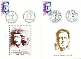 France 2 Souvenirs De Gaulle Centenaire De Sa Naissance 2634 Et 2634a - De Gaulle (General)