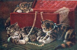 "3651 Cpa Chats  - Raphael Tuck & Sons "" Oilette "" - Katten"