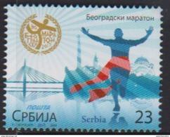 SERBIA, 2017, MNH,  MARATHON, BELGRADE MARATHON, BRIDGES , CHURCHES, 1v - Other
