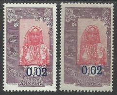 COTE FRANCAISE DES SOMALIS 1922 YT 109/109a** - SANS CHARNIERE NI TRACE - Côte Française Des Somalis (1894-1967)
