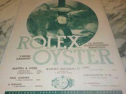 ANCIENNE PUBLICITE   MONTRE OYSTER DE ROLEX  1932 - Gioielli & Orologeria