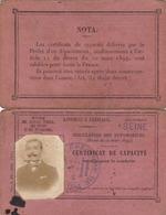 PERMIS  DE  CONDUIRE  :  CERTIFICAT  DE  CAPACITE  (  AUTOMOBILES )  .  1910  . - Titres De Transport