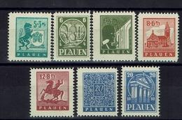Allemagne - Plauen - Emission Locale - N° 1-7 - Neufs Sans Charnière - XX - Gomme économisée - Dentelés 12.1/2 - TB - - Zone Soviétique