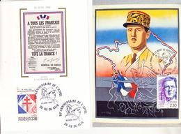 France 2 Souvenirs De Gaulle Centenaire De Sa Naissance 2634 Et 2656 - De Gaulle (General)