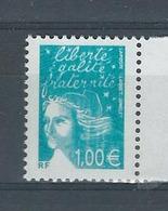 Marianne 14 Juillet N° 3455 Variété Griffe  Sur La Chevelure - Francia