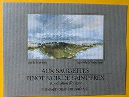 11616 - Pinot Noir De St-Prex Suisse Aquarelle De Pietro Sarto - Arte