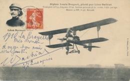 """BATHIAT - Texte Et Signature AUTOGRAPHE Sur  CP """" Biplan Breguet Piloté Par Léon Bathiat """" - Aviateur - Aviatori"""