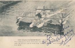 """Pionnier Aviation BATHIAT - Texte Et Signature AUTOGRAPHE Sur  CP """" L ' Hydravion Bathiat Sanchez """"- Pilote Aviateur - Autographs"""