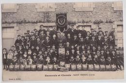 Harmonie Et Chorale Saint-Brieuc 1912 - Cliché Gilbert - Saint-Brieuc