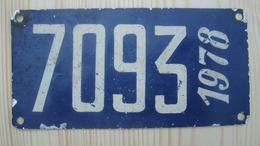 Plaque Bateau National 1978 - Number Plates