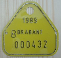 Plaque Bateau Brabant 1989 - Number Plates