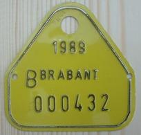 Plaque Bateau Brabant 1989 - Plaques D'immatriculation