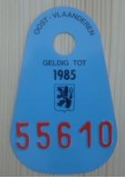 Plaque Vélo  Douane 1985 Port D'Anvers - Number Plates