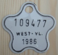 Plaque Vélo Enfant  West - Vl 1986 - Kennzeichen & Nummernschilder