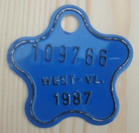 Plaque Vélo Enfant  West - Vl 1987 - Plaques D'immatriculation