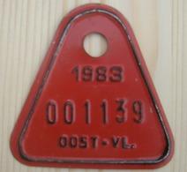 Plaque Vélo Invalide Oost - Vl 1983 - Number Plates